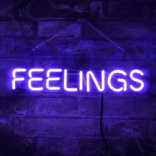 """Purple """"FEELINGS"""" Neon Sign Man Cave Video Game Pub Canteen Bistro Cafe Shop"""