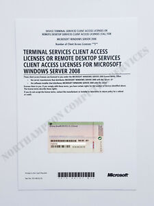 Windows Server 2008 /R2 Terminal Services 5 CAL RDS HP Remote Desktop 599195-B21