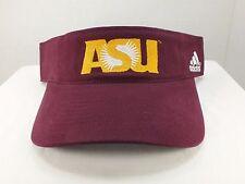 Arizona State University NCAA ADULT ADHESIVE STRAP SUN VISOR HAT  New By adidas