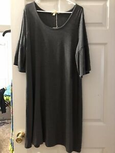NWT Womens Matilda Jane Moments with you  Live To Teach Gray Dress Large L