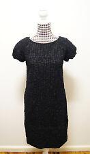 VERONIKA MAINE DRESS BLACK TEXTURED DRESS, Sz 8