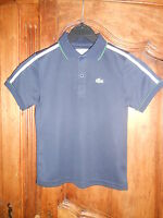 polo sport manches courtes LACOSTE marine taille 8 ans - neuf