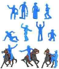 Marx Recast 60mm Cowboys - 11 in 11 poses plus 3 horses, 3 saddles and 3 reins