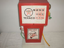 "Vintage 1970's Texaco Gas Pump - Made By H-G Toys - East Rockaway N.Y - 17"" Tall"