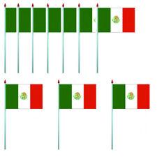 LOT DE 10 DRAPEAUX MEXIQUE - PAVILLON 10 X 15 CM