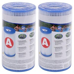 Intex Type A Replacement Filter Cartridge Swimming Pool Pump Easy Set Up Blue