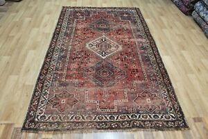 Antique handmade Persian Shiraz Qashqai rug 245 x 146 cm