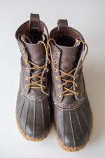 LL Bean Maine Duck Boots, vintage, men's size 9, brown leather