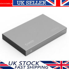 "ORICO Aluminium 2.5"" USB 3.0 SATA III HDD/SSD Hard Drive Enclosure Caddy Case GY"