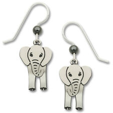 Elephant Earrings - 925 Sterling Silver Ear Wire - Movable Elephant Jewelry NEW