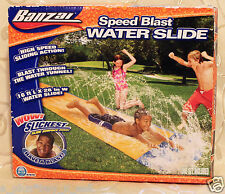 BANZAI SPEED BLAST WATER SLIDE - 16 ft x 28 in - WOW SLICKEST SLIDE SURFACE EVER
