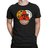 42 The Answer To Life The Universe and Everything Funny Men Cotton Black T-Shirt
