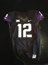 Game Worn Used Nike TCU Horned Frogs Football Jersey #12 Size 42