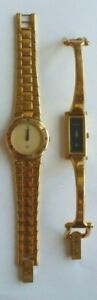 Lot of 2 Pre-Owned Gucci Gold-Tone Women's Watches - 3300L, 1500L - No Reserve !