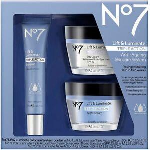 Boots No7 Lift & Luminate Anti-Ageing Skincare Triple Action Serum Gift Set