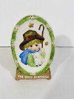 "Jasco Good Shephard Plaque 6 3/4"" Christmas Holiday Precious Moments Sheep"