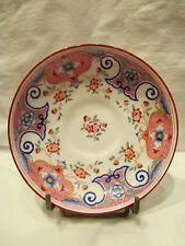 ancienne coupelle sous tasse creuse minton 's porcelaine anglaise 19 eme fleurs