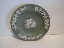 Wedgwood green jasperware dish 4 3/8 Inches
