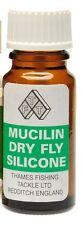 Fly Fishing: Liquid Silicon Mucilin Dry Fly Floatant Botlle & Brush Set