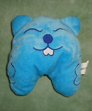 K # DOUDOU PELUCHE  RENAULT MINUTE OURS CHAT CASTOR TAUPE  BLEU  TBE