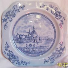 "JOHNSON BROTHERS TULIP TIME BLUE 7-3/4"" SALAD PLATE!"