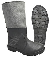 German Army Style Cold Weather Winter Boots - Leather Snow Extreme EVA Insoles