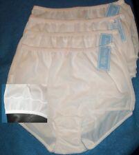 4 Pair Dixie Belle White Nylon Size 8 Scalloped Leg Panty Style 719 USA Made