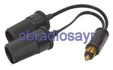 Roadtek Hella Style Plug to Twin Cigar Socket Adaptor - TAYKB13H