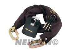 Motorbike Motorcycle Bike 1m Chain Security Disc Lock Padlock Heavy Duty New