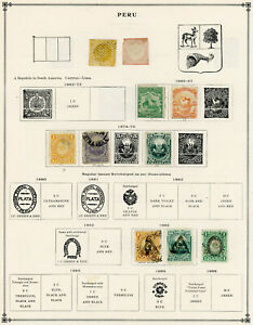 Peru- 1800's-1900's- 10 Pages Used- Regular, Air, BOB -Sets and Partial Sets