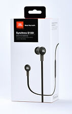 JBL Synchros S100i In-Ear Stereo Headphones Headset w/Mic Remote for iOS (Black)