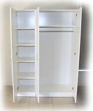 Budget 1200mm White 2 Piece Wardrobe - Hanger & Skinny Shelves - BRAND NEW