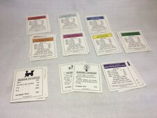 (E1) MONOPOLY 1998 DELUXE EDITION BOARD GAME REPLACEMENT Title Cards -Complete