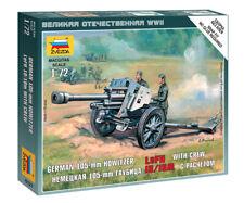 Zvezda 1/72 figuras alemán 105mm Howitzer LEFH 18/18M con equipo Z6121