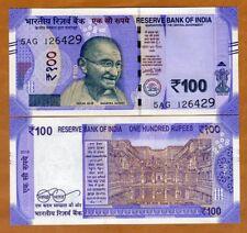 India, 100 Rupees, 2018, P-112a, UNC > Gandhi, Redesigned, New Colors