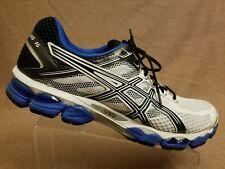 Asics T3C0N Gel Cumulus 15 Men White Blue Athletic Sneaker Running Shoes Size 14