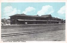 DODGE CITY KS EL VAQUERO HARVEYHOUSE DEPOT & HOTEL POSTCARD c1926 ATSF RAILWAY