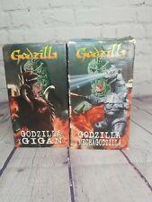 Godzilla Vs. Mechagodzilla and Godzilla Vs. Gigan Starmaker 1997 VHS Movies