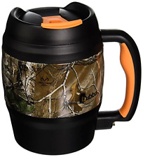 Large Thermo Mug 52 Oz Travel Stainless Outdoor Soup Bowl Bottle Real Tree, New