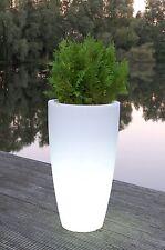 """Pflanzkübel Blumenkübel """"City"""" aus Kunststoff beleuchtet, 90 cm, Weiß"""