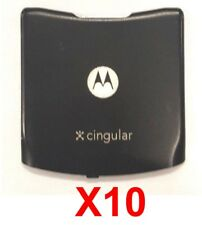 Lot Of 10 Original Oem Motorola Razor V3 Gsm Battery Back Door Cover (Good Used)
