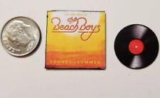 "Dollhouse Miniature Record Album 1"" 1/12 scale Barbie Beach Boys Sounds Summer"