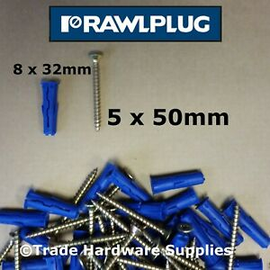 GENUINE RAWLPLUG UNO Wall Plugs Yellow Red Brown Blue Grey Screw Fixings Anchor