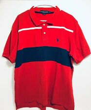 Mens -U.S. Polo Assn. collared Red Shirt size XL