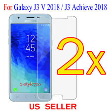 2x Clear Screen Protector Guard Film Samsung Galaxy J3 V 2018 / J3 Achieve 2018