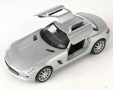 BLITZ VERSAND Mercedes SLS AMG silber / silver Welly Modell Auto 1:34 NEU & OVP