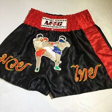 MTG Pro World Muay Thai Council Fight Gear Embroidered XL Shorts Retro Design