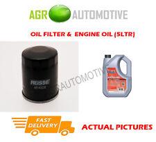 PETROL OIL FILTER + FS 5W40 ENGINE OIL FOR NISSAN MICRA CC 1.6 110BHP 2005-10