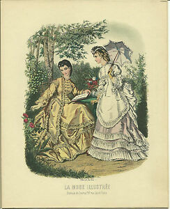 Lot of 4 VNT French Fashion Illustration Prints Litho USA 8x10 Unframed Ladies