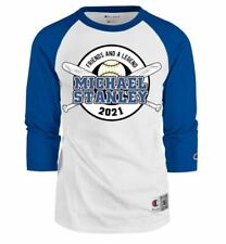 Limited Edition Champion Michael Stanley 2021 Baseball Raglan Shirt - Size Large